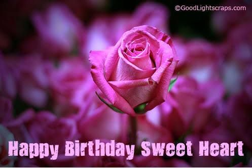 Romantic Birthday Scraps Greetings Ecards