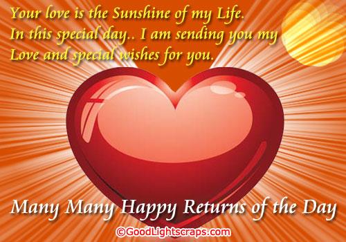 Romantic Birthday Scraps, Greetings, Cards in Orkut
